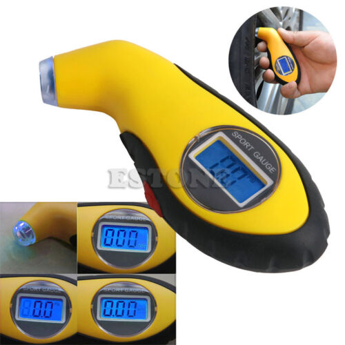 LCD Digital Tire Tyre Air Pressure Gauge Tester Tool For Auto Motorcycle