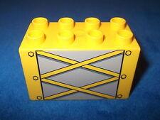 LEGO DUPLO KRAN STEINBRUCH BAUSTELLE GELBER HOHER STEIN MIT AUFDRUCK aus 4988