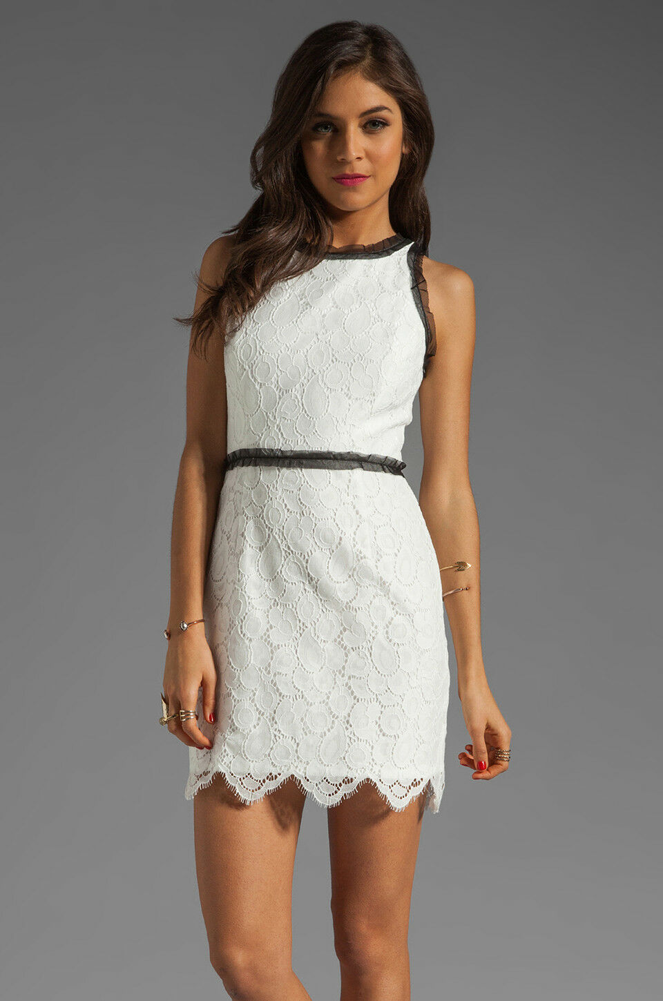 NWT Milly 'Begonia' Scallop Lace Dress - US 4, AU 8