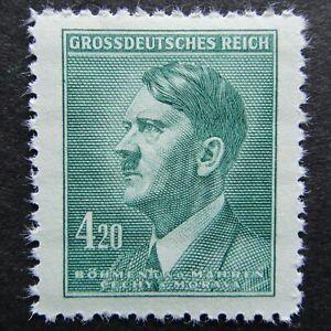 Germany Nazi 1944 Stamp MNH Adolf Hitler WWII B&M Third Reich 4.20k Full Set Ger