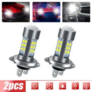 2* H7 Super Bright 110W LED Headlight Fog DRL Bulb Kit High Low Beam 6000K White