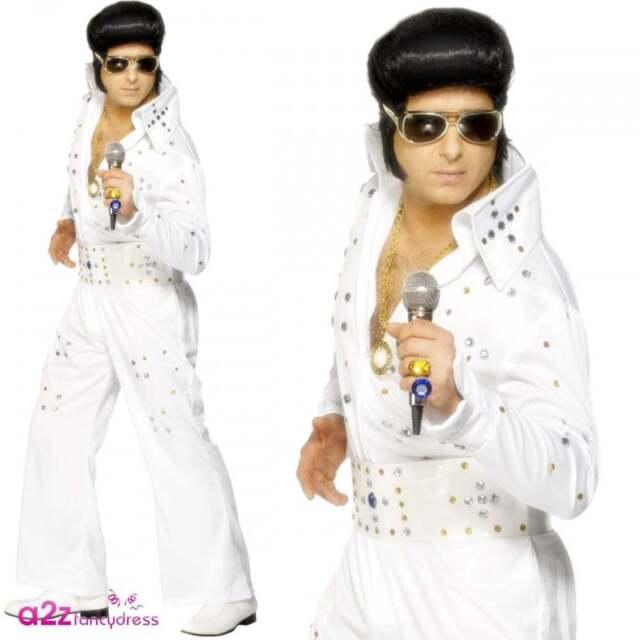Men/'s Licensed Elvis Presley Jewels Costume Music King Rock /& Roll Fancy Dress
