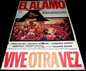 1960-The-Alamo-ORIGINAL-SPAIN-POSTER-John-Wayne-TEXAS-Richard-Widmark