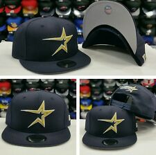 Exclusive New Era MLB Houston Astro Cooperstown 9Fifty Snapback Hat NAVY / GOLD