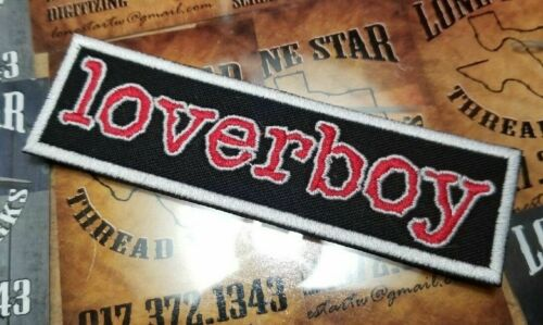EMBROIDERED LOVERBOY ROCK BAND PATCH