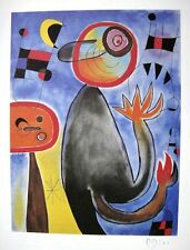 JOAN MIRO AUTHENTIC HAND SIGNED LITHOGRAPH SIGNATURE  W/ C.O.A.