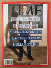 Time Mark Zuckerberg Plan To Get Every Human Online Dec 15 2014 FREE SHIPPING!