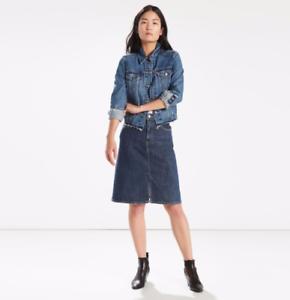 f76610f862 LEVI'S A-Line Midi Jean Skirt, Women, Authentic, BRAND NEW! | eBay
