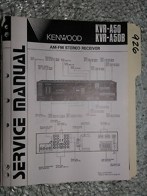 Manuals & Resources Kenwood Service Manual~KR-A50/A50B Receiver ...