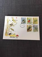 GB Stamps - Insects - First Day Cover Issue - 1985 + Card Insert
