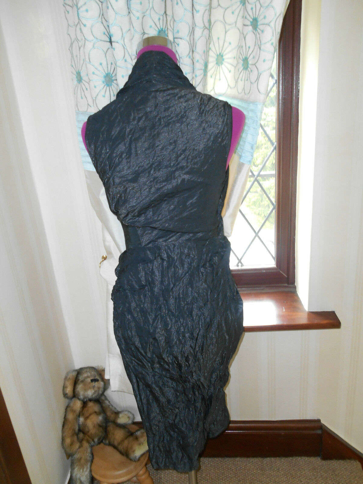 Amazing All Saints Alloy Dress Dress Dress schwarz Größe 12 Excellent Condition 076ca0
