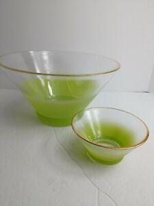 Mid-Century-Modern-Blendo-Chip-039-N-Dip-Set-Lime-Green-No-holder-Bowls-Only