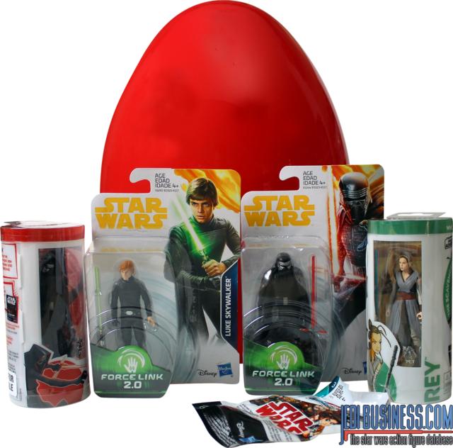 Hasbro Egg Surprise Star Wars 6 Surprise Toy Figures Inside /& Mini Comic Book