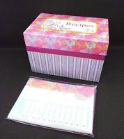 Set Of 2 Divoga Recipe Card Organizer Box 12 Cards 3 Dividers 12 Sticker Labels