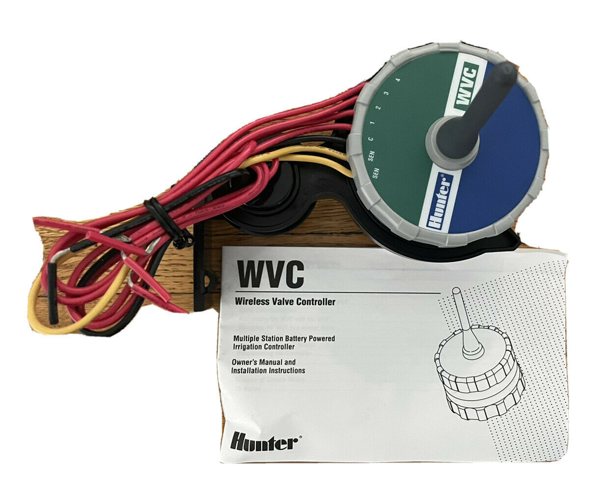 Hunter WVC-400 Battery Operated 4-Station Wireless Valve Controller New In Box