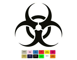 Biohazard-Iron-On-T-Shirt-Clothes-Heat-Vinyl-Transfer-Sticker-12-Colours-5-Sizes