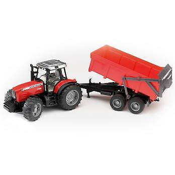 Massey Ferguson 7480 Tractor with Dump Trailer Toy 1 16 scale