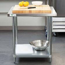 30 X 30 Stainless Steel Work Prep Table Shelf Commercial Restaurant Nsf