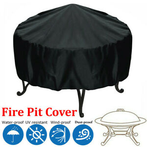 Waterproof-Heavy-Duty-Patio-Round-Fire-Pit-Cover-BBQ-Grill-UV-Protector-44-inch