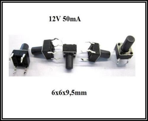Mikrotaster Taster 6x6x9,5mm Mikroschalter Drucktaster 4Pin Schalter 5 Stück