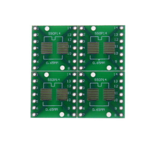 5Pcs SO//SOP//SOIC//SSOP//TSSOP//MSOP14 to DIP 14 Adapter PCB Board ConverteKRFS