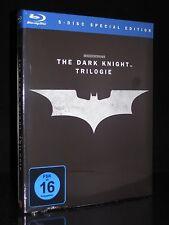 BLU-RAY BATMAN - THE DARK KNIGHT TRILOGIE - BEGINS - RISES - KOMPLETT ** NEU **