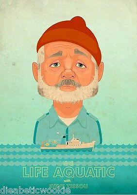 Wes Anderson The Life Aquatic boat art print poster Bill Murray Zissou