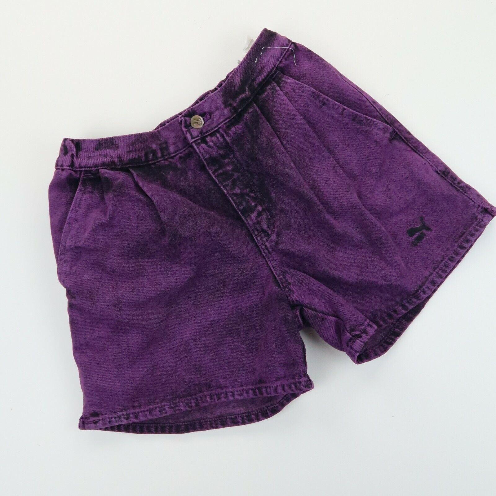 PUMA Vintage 90's Womens High waisted denim Acid Wash shorts SZ 29