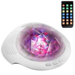 SOAIY Sleep Sound Machine /& Northern Light Projector with Bluetooth Remote,...