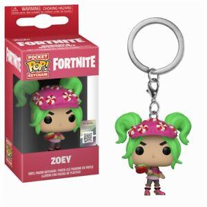 Fortnite-Battle-Royale-Zoey-Outfit-Pocket-POP-Keychain-Schluesselanhaenger-Funko