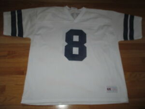 official photos bfe42 4e521 Details about Vintage Logo Athletic TROY AIKMAN No. 8 DALLAS COWBOYS (Size  XL) Jersey WHITE