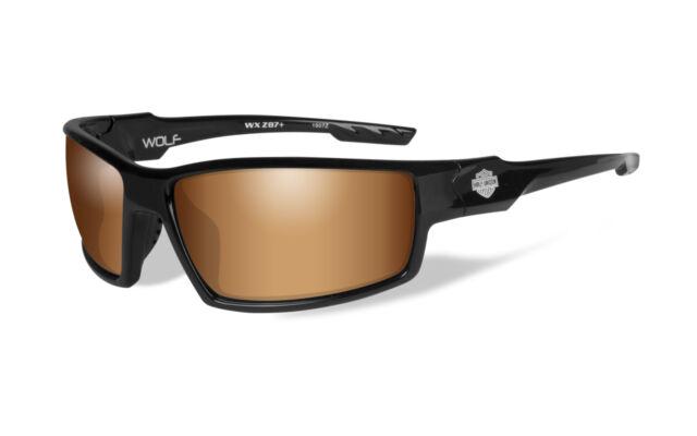 Harley-Davidson Wiley X Burnout Silver Flash Motorrad Brille