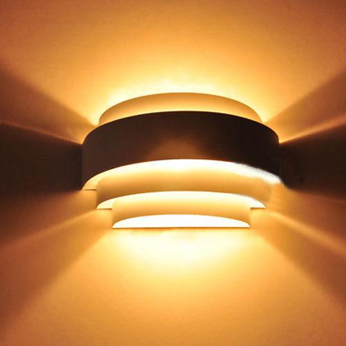 Modern MAX 60W Metal Anodized Polishing Up Down Wall Lamp Sconce Lighting UK