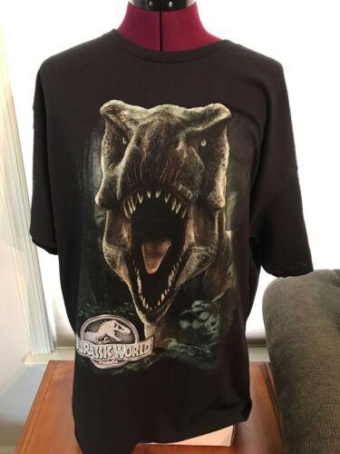 NEW NWT LICENSED JURASSIC WORLD T-REX ROAR BLACK COTTON T-Shirt JURASSIC PARK