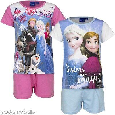 Flight Tracker Frozen Disney Pigiama Estiva Maglietta Manica Corta Pantaloncini Cotone 4-8anni Scelta Materiali