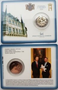 Luxembourg-2020-Naissance-Princiere-2-euro-Coin-Card-BU-mint-mark-Bridge