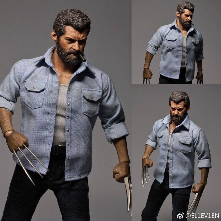 Genuino 11 Eleven 1 6 trajes Logan Wolverine Hugh Jackman caliente juguetes figura