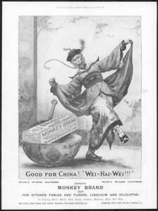 1898-Antique-ADVERTISING-Print-BROOKES-Monkey-Brand-Soap-Good-For-China-203