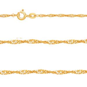 Juwelier Singapur Hals Kette Stärke 1,8 mm aus Echt Gold 333 (8 Kt) Gelbgold Neu