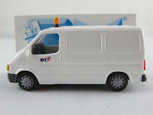 Rietze-30692-FORD-TRANSIT-Carrello-Cassetta-1994-034-British-Telecom-034-1-87-h0-Nuovo-Scatola