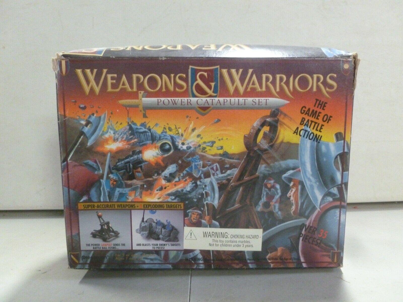 1994 armas y catapulta de energía de los guerreros Pressman Set