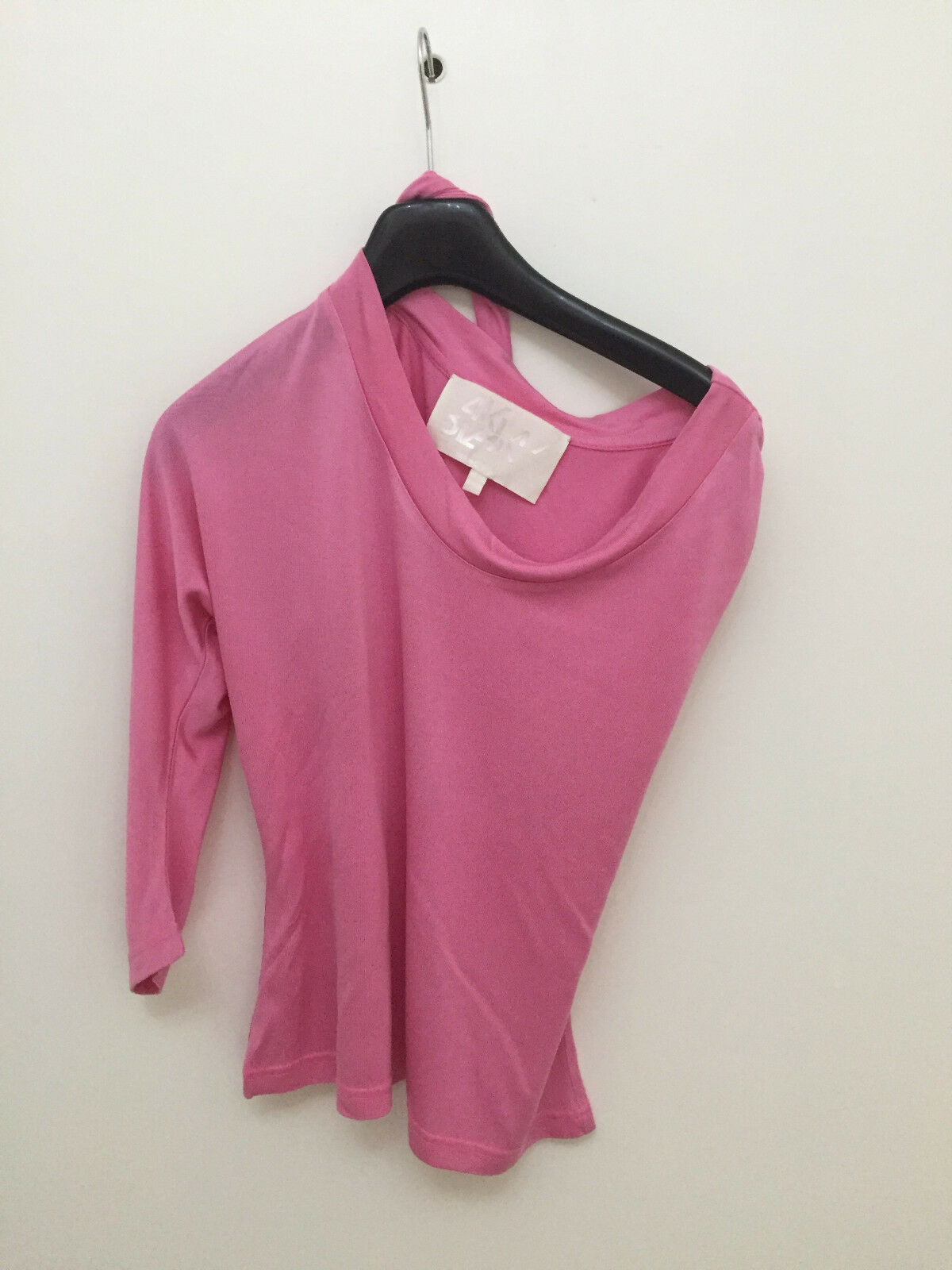 BLAAK - Bubble Gum Pink Silk Jersey Asym. Shoulder Top