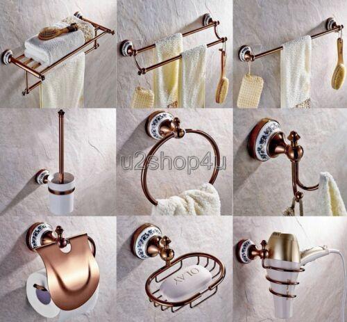 Rose Gold Br Bathroom Hardware Set Bath Accessories Towel Bar Ux021
