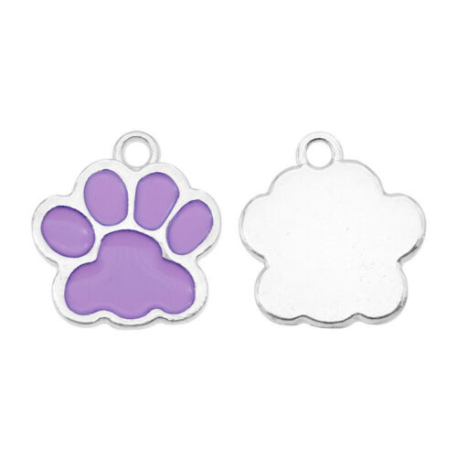 Enamel Assorted Colors Alloy Dog Footprint Pendant Charms DIY Accessories 20pcs