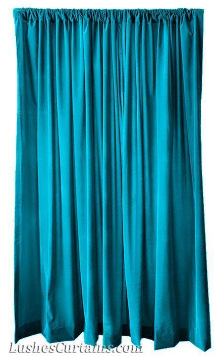 213cm H Solide Türkis Zuhause Wohnzimmer Fenster Samt Vorhang Tafell Drapiert | Gewinnen Sie hoch geschätzt  | Verkauf  | Klein und fein