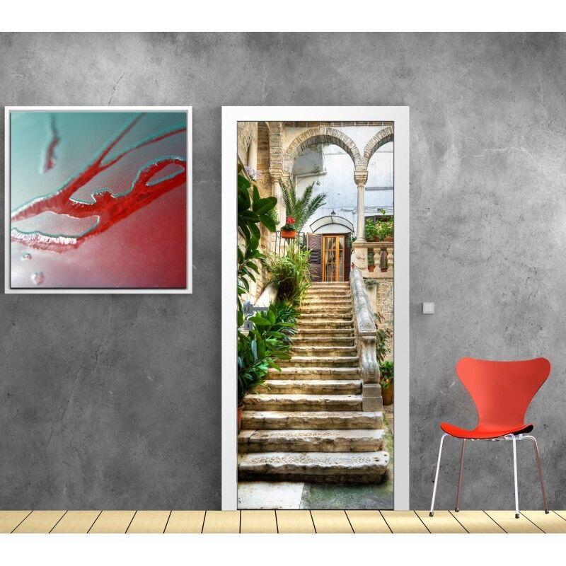 Aufkleber Tür Treppe Außen 766
