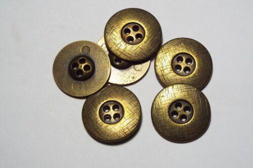8pc 18mm antique bronze métal chemise blazer manteau cardigan kid bouton 2786