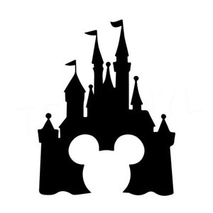 7 5 Quot Disney Castle Vinyl Decal Sticker Car Window Laptop