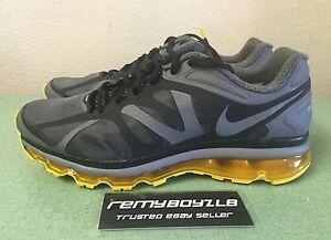 08660671dce3 Nike Air Max+ 2012 Black Grey Yellow Mens Sz 12 Livestrong 360 ...