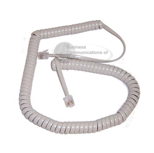 Platinum Light Grey Gray Nortel Phone Handset Coil Cord NEW 12 foot